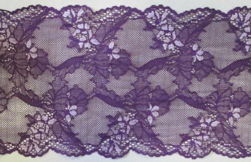 Edle Dessousspitze elastisch 16 cm violett