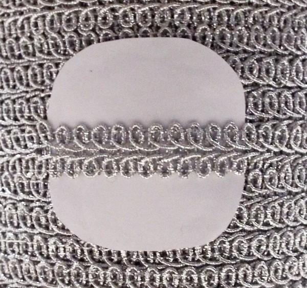 Borte Lurex silber 13 mm