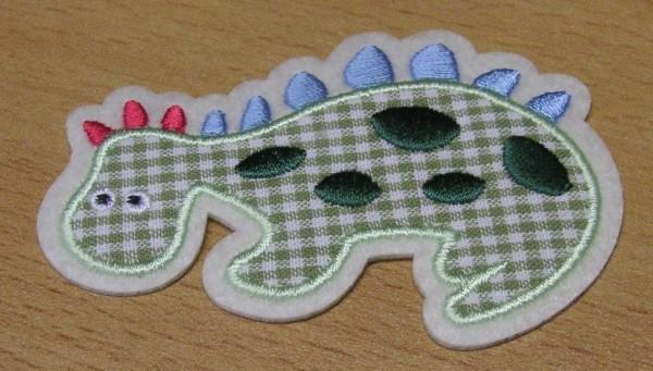 Applikation Dinosaurier 5,1 cm x 7,7 cm zum aufbügeln