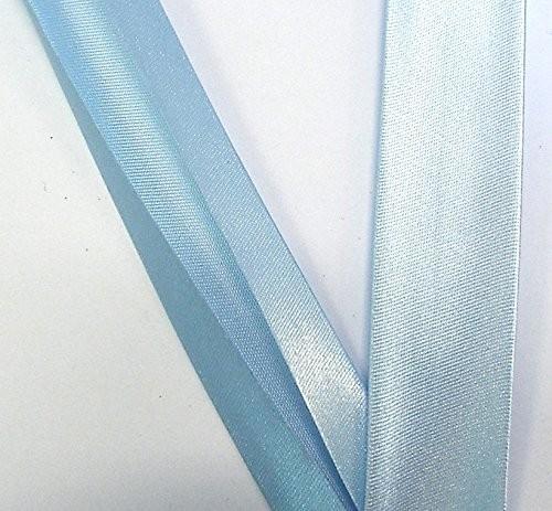 Satinschrägband hell blau 20 mm