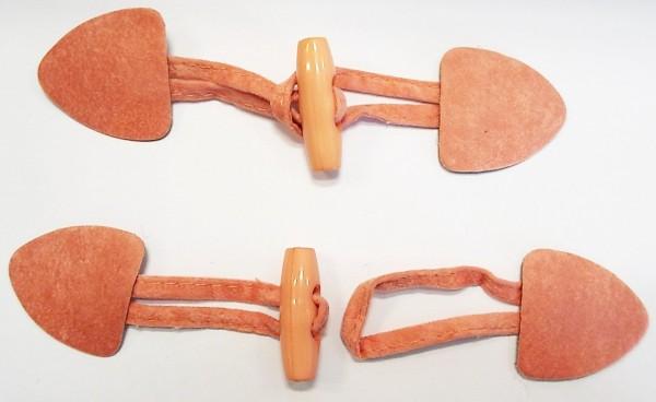 Knebelverschluß apricot 155 mm