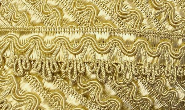 Posamentenborte, aufwendig gearbeitet 25 mm gold
