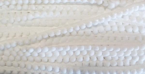 Pomponborte weiß 10 mm