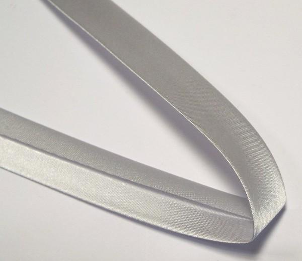 Satinschrägband 20 mm hell grau