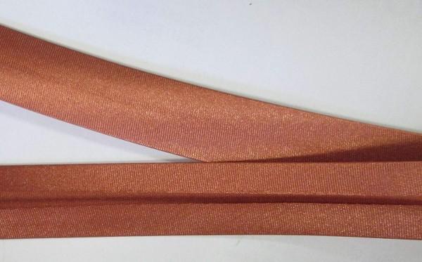 Satinschrägband rost / rot / braun 20 mm