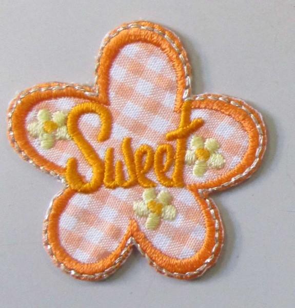 "Applikation ""Sweet"" orange 40 x 45 mm"