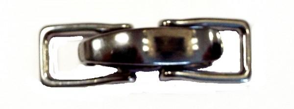 Bekleidungsverschluß silber brüniert zum einhaken 60 x 15 mm