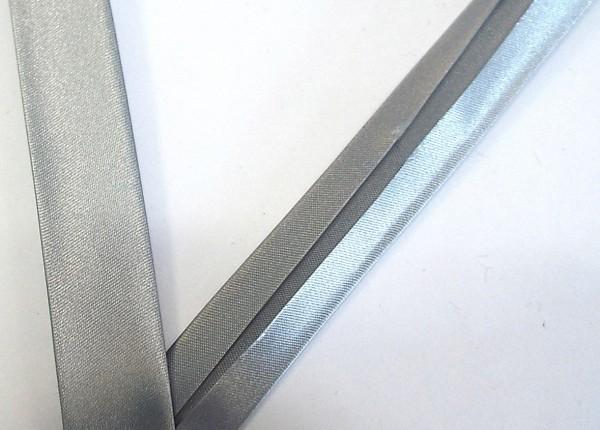 Satinschrägband silber 18 mm