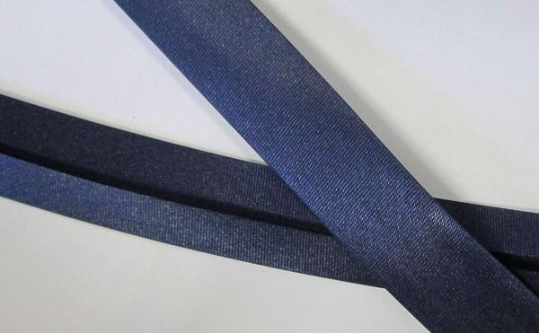 Satinschrägband marine / dunkel blau / navy 20 mm