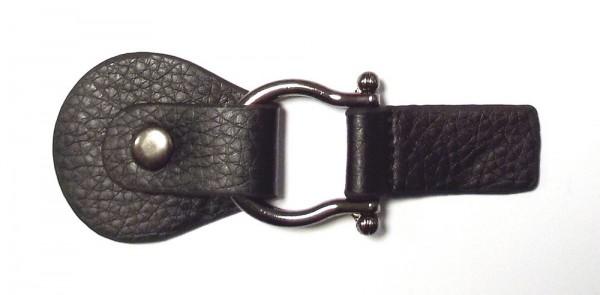 Bekleidungsverschluss schwarz mit Druckknopf 115 x 40 mm
