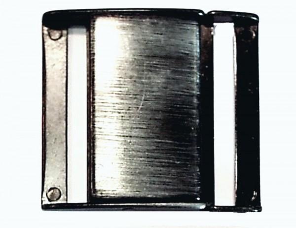 Steckschnalle schwarz/alt silber Stegbreite 40 mm