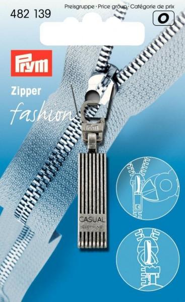 Fashion-Zipper Casual altsilber