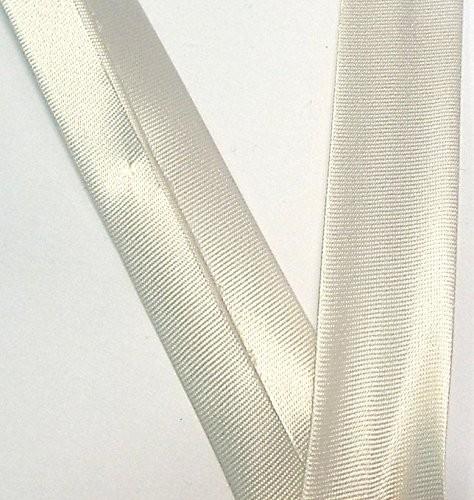 Satinschrägband lichtgrau 18 mm