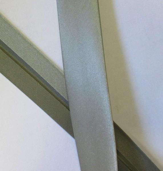 Satinschrägband grau 20 mm