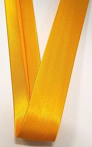 Satinschrägband mais gelb 18 mm