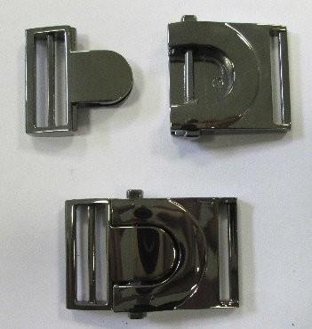 Klickschnalle schwarz metallic 25 mm