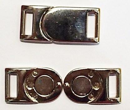 Bekleidungsverschluss Magnet silber 35 x 15 mm