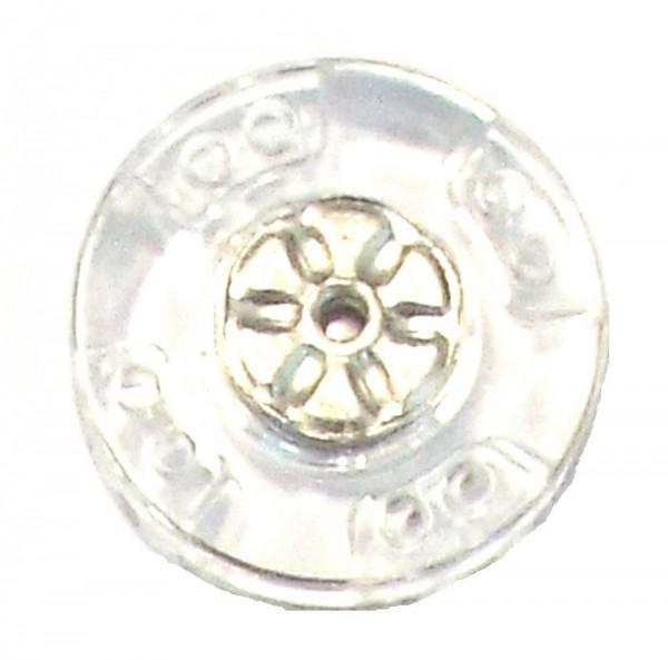 2 Druckknöpfe zum Annähen Kunststoff / Metall 25 mm