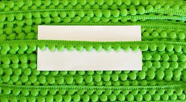 Pomponborte apfelgrün 10 mm