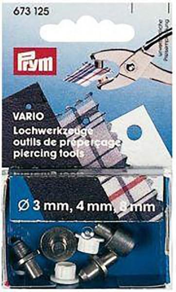 Lochwerkzeuge für Vario-Zange ST 3/4/8 mm