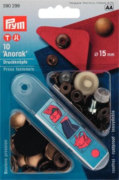 NF-Druckknopf Anorak MS 15 mm altmessing