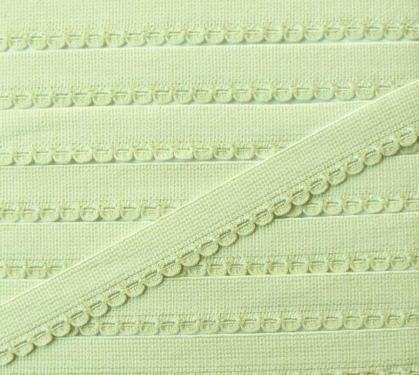 Wäschespitze elastisch 11 mm hell grün