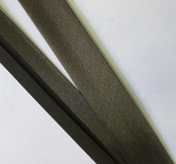 Satinschrägband dunkel braun 20 mm