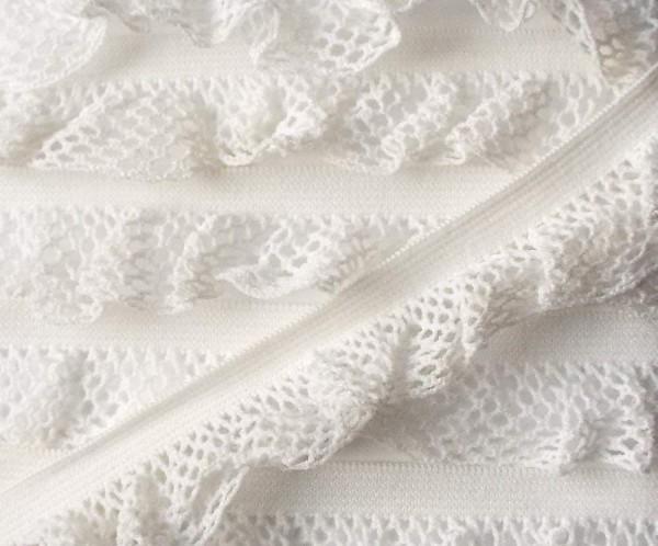 Wäschespitze elastisch 26 mm weiss