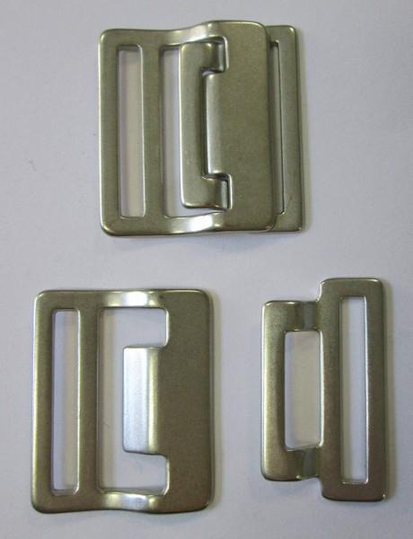 Bekleidungsverschluss silber 30 mm Stegbreite
