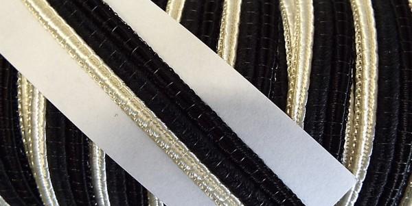 Borte schwarz/beige 10 mm
