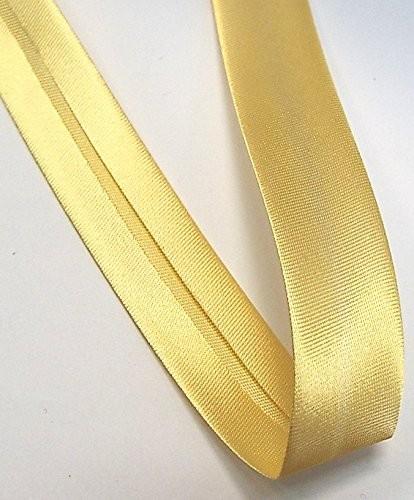 Satinschrägband hell gelb 18 mm