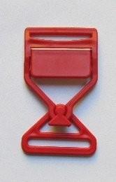Steckschnalle rot Steg 35 mm