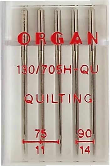 Nähmaschinennadeln Quilting / Steppnadeln 75 - 90 130/705