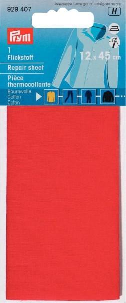 Flickstoff CO (bügeln) 12 x 45 cm rot