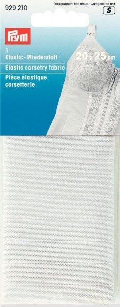 Elastic-Miederstoff 20 x 25 cm weiß