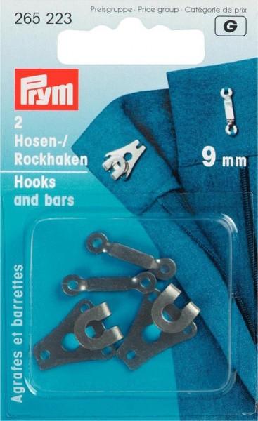 Hosen/Rockhaken und Stege ST 9 mm schwarz