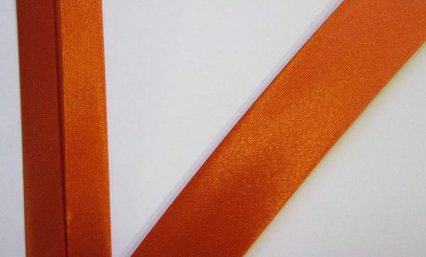 Satinschrägband rost orange /20 mm
