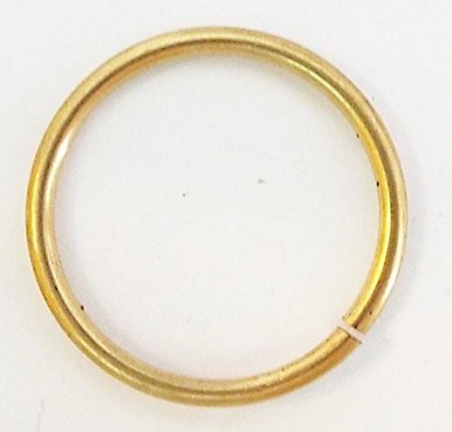 Hohlring aus Metall, gold 22 mm 2 Stück
