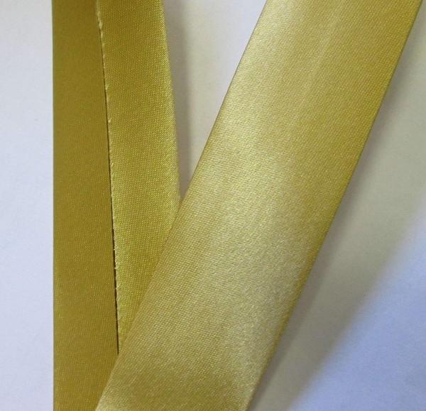 Satinschrägband honig 30 mm