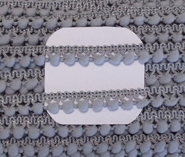 Pomponborte grau 10 mm