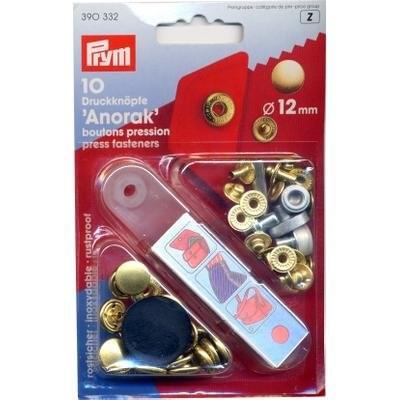NF-Druckknopf Anorak MS 12 mm goldfarbig