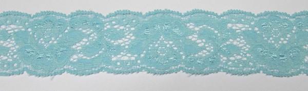 Dessousspitze 35 mm türkis unelastisch Polyester