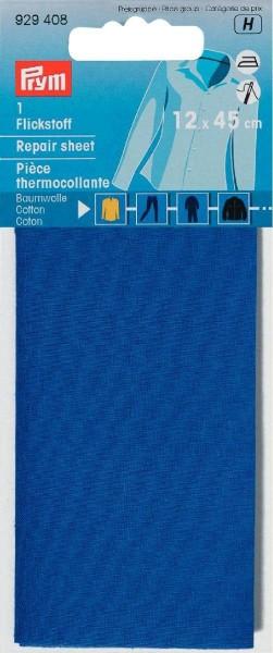 Flickstoff CO (bügeln) 12 x 45 cm mittelblau