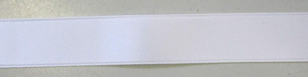 Satinband Double Face 16 mm weiß