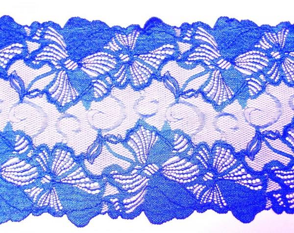 Dessousspitze elastisch 20 cm blau