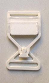 Steckschnalle weiß Steg 35 mm