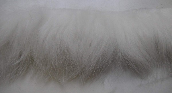 Lederband Kanin weiss ca. 45mm