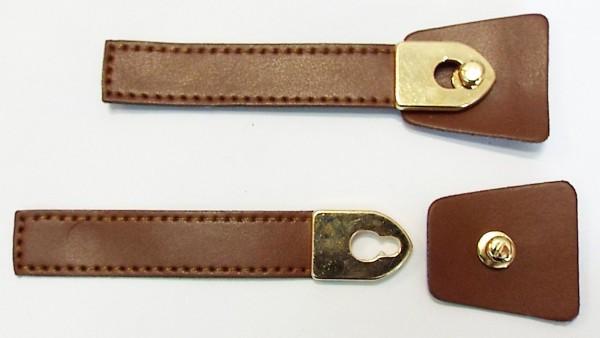 Bekleidungsverschluss braun/gold zum einhaken