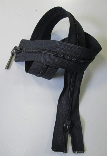 RV schwarz, 038 cm Kunststoff teilbar 2-Wege Spirale