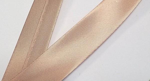 Satinschrägband rosenholz 20 mm